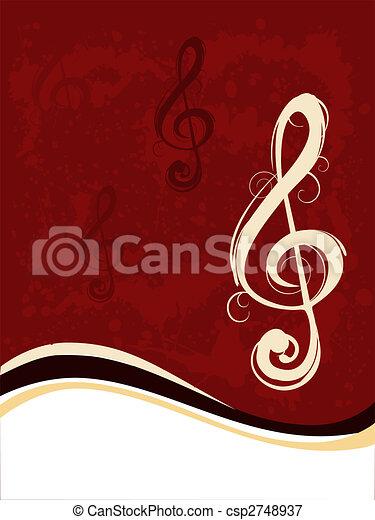 musik note - csp2748937