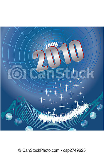 Hi-Tec New Year, Black hole of time, vector illustration - csp2749625