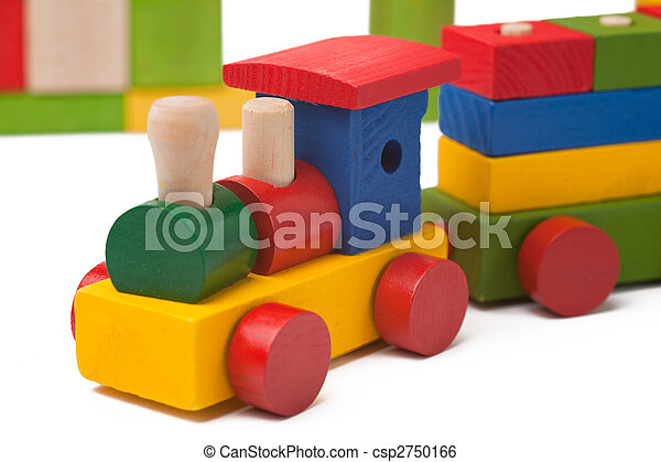 brinquedo, trem, coloridos - csp2750166
