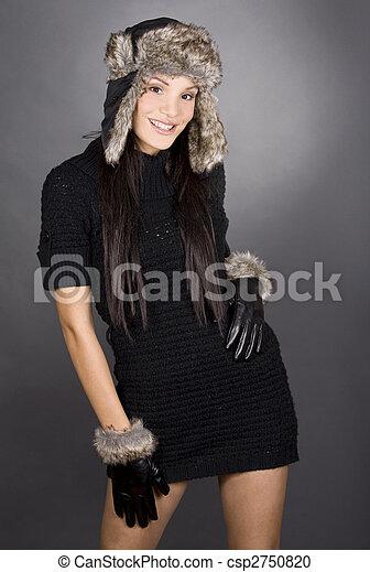 winter woman - csp2750820
