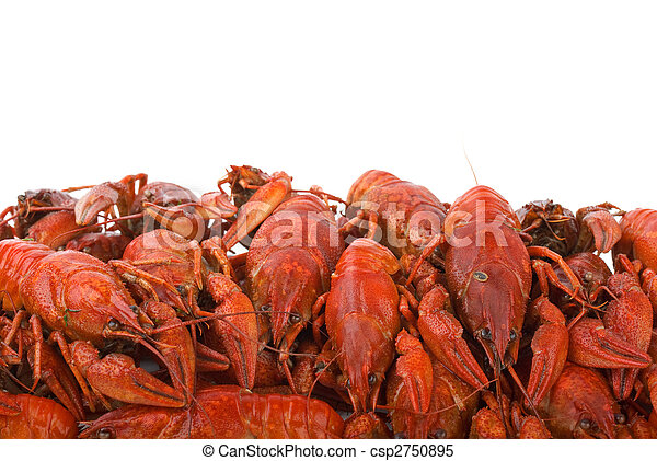 Pile of boiled crayfishes - csp2750895