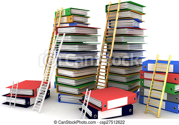 Folders and ladders - csp27512622