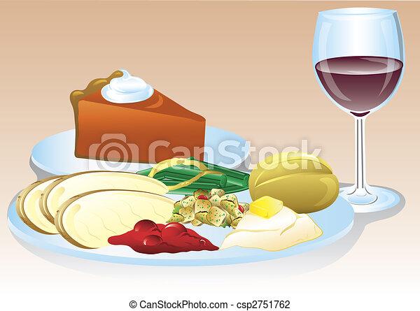 Thanksgiving dinner - csp2751762