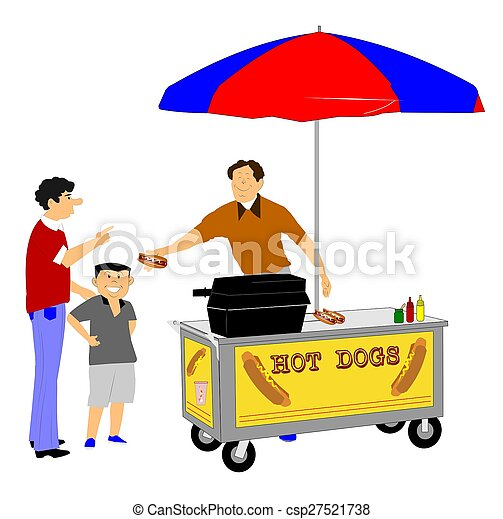 Stock Photos of hot dog street vendor - street vendor ...