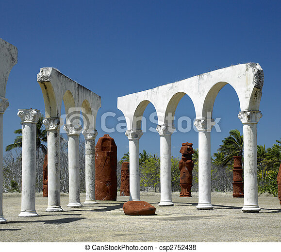 memorial of Christopher Columbus's landing, Bah�a de Bariay, Holguin Province, Cuba - csp2752438