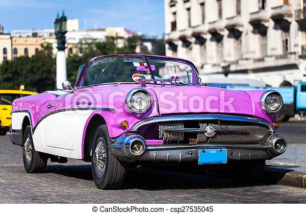 自動車, アメリカ人, 歴史的, キューバ - csp27535045