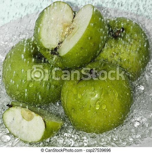 Sliced apple in Water