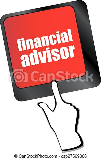 Clip Art Vector of keyboard key with financial advisor button ...