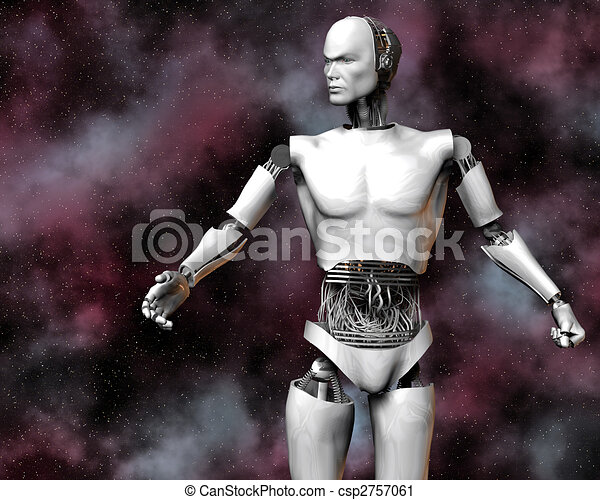 android, cybernetic intelligence machine - csp2757061