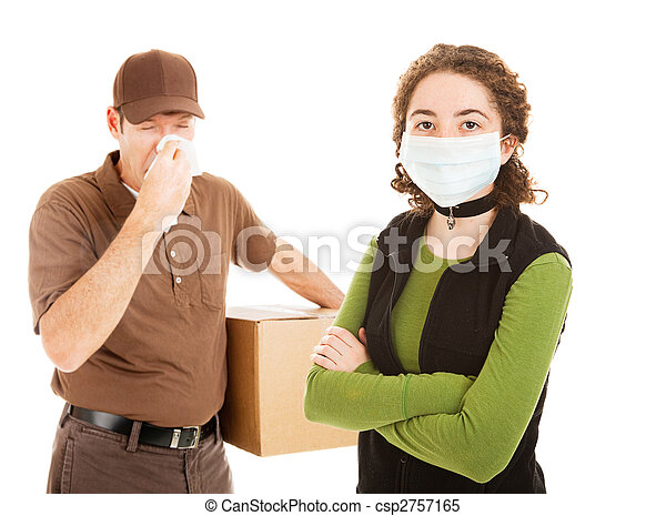 Delivering the Flu - csp2757165