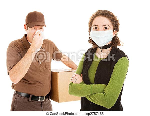 Delivering the Flu - csp2757165