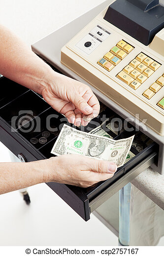 Cash Register - Small Change - csp2757167