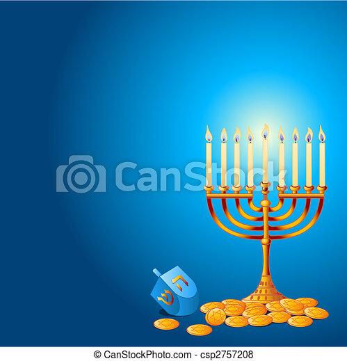 Hanukkah Background - csp2757208