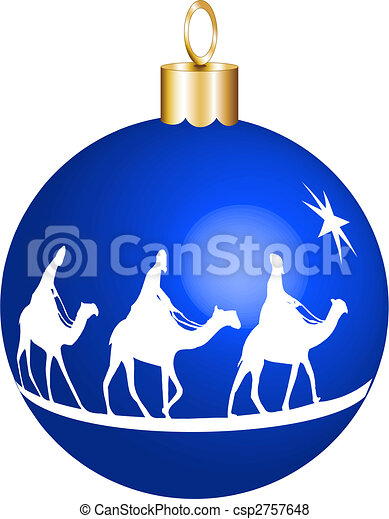 3 kings christmas ornament - csp2757648