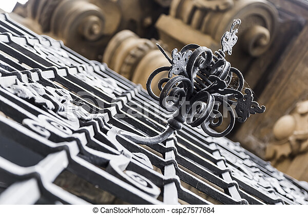 decorative monogram fence