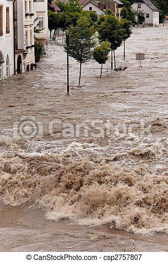 Flooded Residential Area - csp2757807