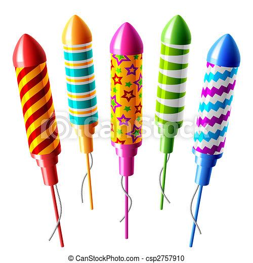 Firework rockets - csp2757910