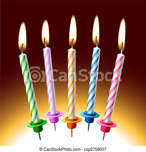 Birthday candles - csp2758007