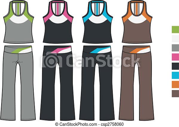 lady aerobic sporty set - csp2758060