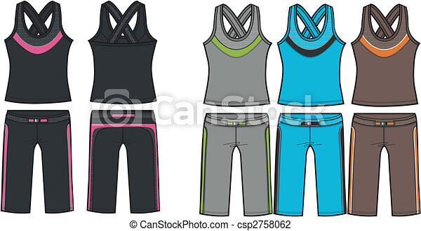 lady aerobic sporty set - csp2758062