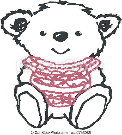 lovely bear illustration - csp2758086