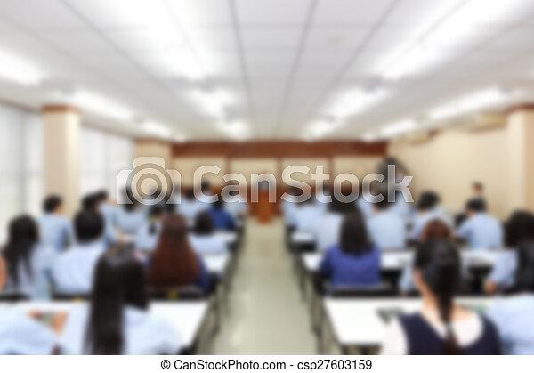 business presentation blurred