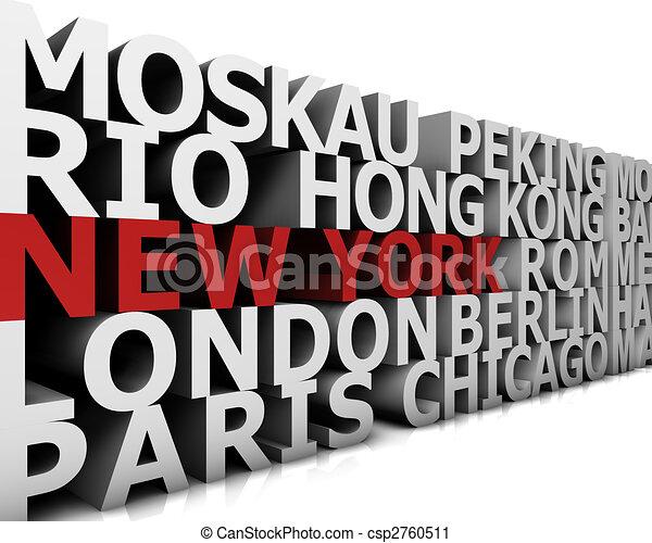 Metropolis New York - csp2760511