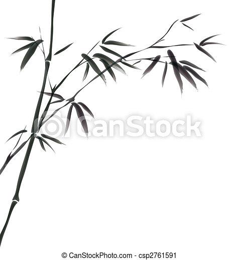 chinese painting of bamboo - csp2761591