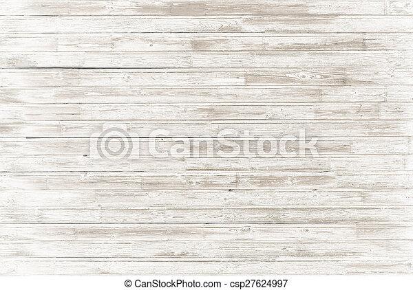 Årgång, vit, ved, gammal, bakgrund - csp27624997