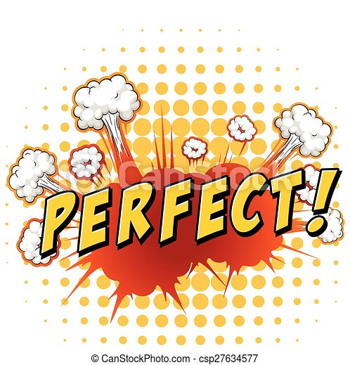 vectors illustration of perfect word perfect with cloud clip art explosion happy clip art explosion animated