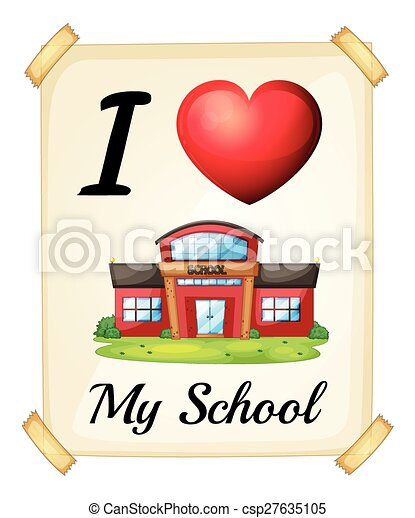 i love my school I love my school because the company is great the teaching staff offer a lot of  support, our facilities are good, our standard of learning is.