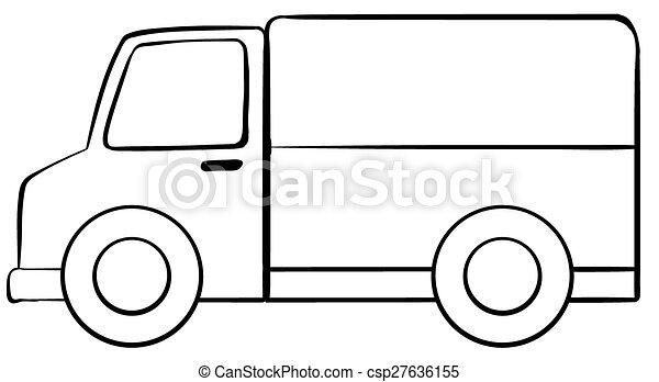 Dessin simple camion - Comment dessiner un camion de pompier ...