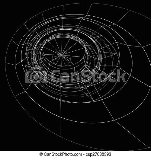 EPS Vectors of Scientific perspective lattice dark background ...