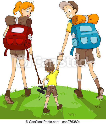 Family Hiking - csp2763894