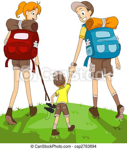 Family Hiking - csp2763894