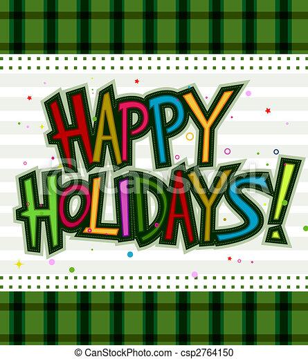 Happy Holidays - csp2764150