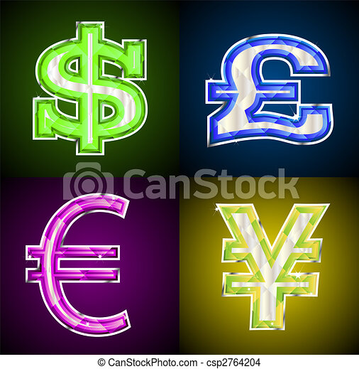 Jeweled money symbols - csp2764204