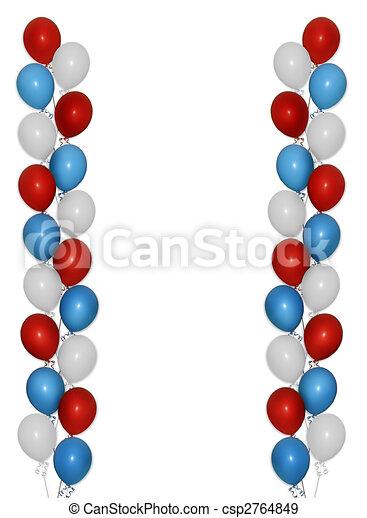 Patriotic balloons border - csp2764849
