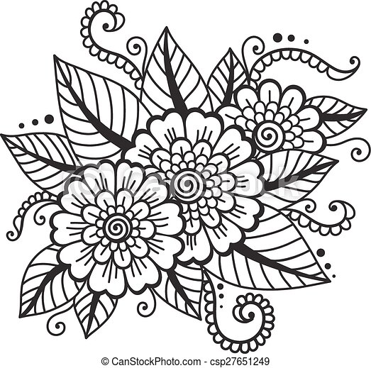 ... flower indian... csp27651249 - Search Clip Art, Illustration, Drawings