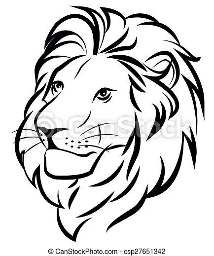 Vecteur eps de lion t te a lion csp27651342 recherchez des images graphiques vecteur clip - Dessin facile lion ...