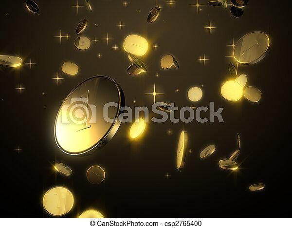 Falling golden coins - csp2765400
