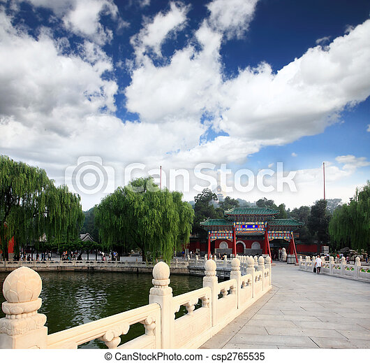 The Beihai Park near Forbidden City Beijing - csp2765535