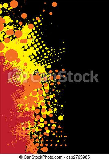 grunge splat red hot - csp2765985