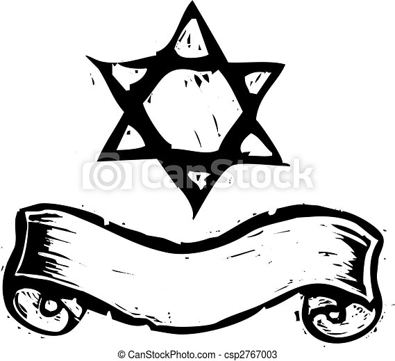 Star of David and Banner - csp2767003