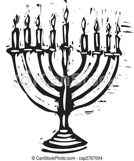 Hanukkah Menorah - csp2767004