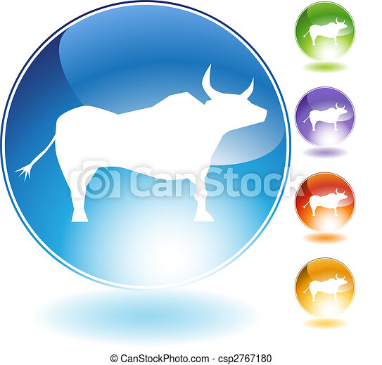 Ox Crystal Icon - csp2767180