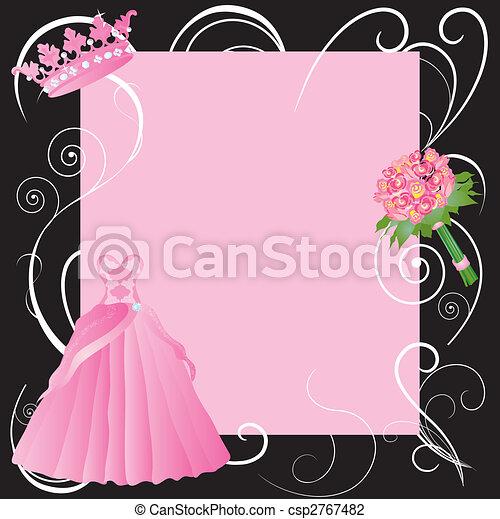 Sweet 16, La Quinceanera party invitation - csp2767482