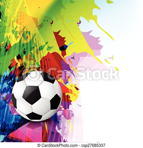 grunge style vector football - csp27685337
