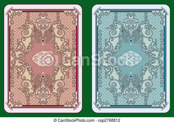 Swirled cards back - csp2768812