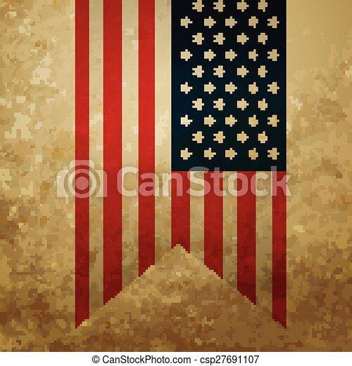 american flag vintage vector - photo #37
